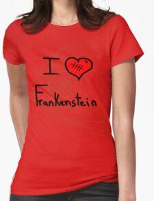 i love Frankenstein halloween   Womens Fitted T-Shirt