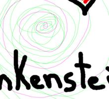 i love Frankenstein halloween   Sticker