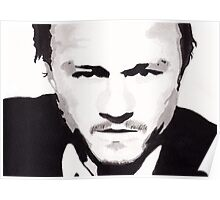 Heath Ledger - Portrait in India Ink by Guy Hoffman Poster