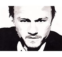 Heath Ledger - Portrait in India Ink by Guy Hoffman Photographic Print