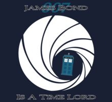 James Bond is a Time Lord Kids Clothes