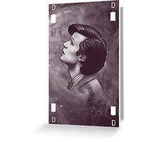 Daft Old Man - Version 3 - Auburn and white Greeting Card
