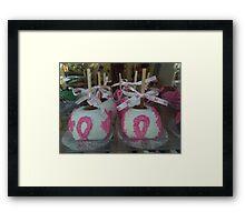 """""""National Breast Cancer Month"""". Framed Print"""