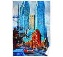 Gooderham Building Toronto Dowtown Painting Poster