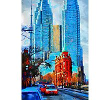 Gooderham Building Toronto Dowtown Painting Photographic Print