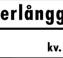 Västerlånggatan, Stockholm Street Sign, Sweden Sticker