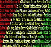 Reggae Artist - Roll Call by The Peanut Line