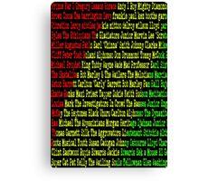 Reggae Artist - Roll Call Canvas Print