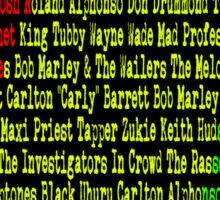 Reggae Artist - Roll Call Sticker