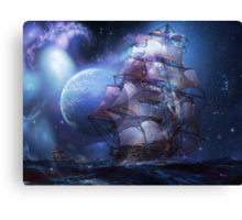 MOONLIT SAIL Canvas Print
