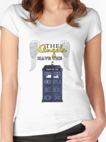 The Angels Have the Phonebox | Doctor Who Women's Fitted Scoop T-Shirt
