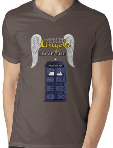The Angels Have the Phonebox | Doctor Who Mens V-Neck T-Shirt