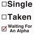 Waiting for an Alpha by Jessica Becker