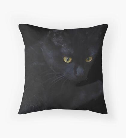 Suki, Scaring Away the Evil Spirits on Halloween Night! Throw Pillow