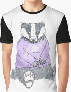Winter Badger Graphic T-Shirt