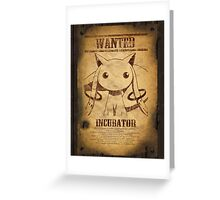 WANTED: Kyuubey Greeting Card
