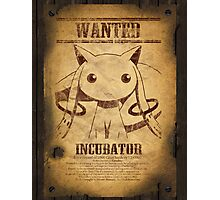 WANTED: Kyuubey Photographic Print