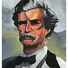 Mark Twain by Adrian Covert
