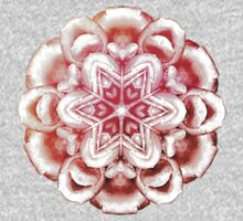 tie dye heart ornament in pinks and peaches One Piece - Short Sleeve