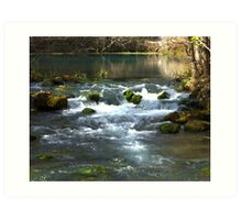 Alley Springs Small Waterfall Art Print