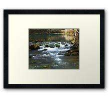 Alley Springs Small Waterfall Framed Print