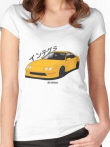 Honda Integra DC2 (Yellow) Women's Fitted Scoop T-Shirt