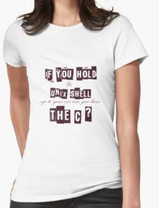 Can you hear the C ??? Womens Fitted T-Shirt