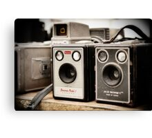 Old Cameras Canvas Print