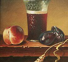 glass of wine  by dusanvukovic