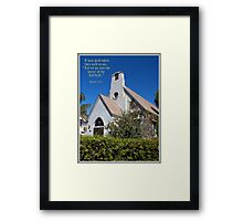 The House Of The Lord Framed Print