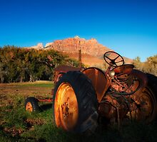 Rustic Vintage Tractor  by KellyHeaton