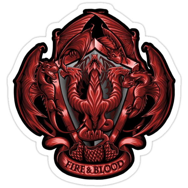Fire and Blood - Sticker by TrulyEpic
