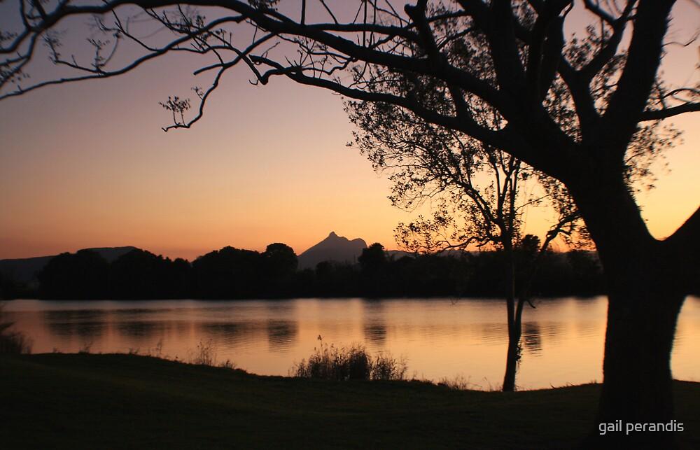 Mt. Warning at dusk ... by gail woodbury
