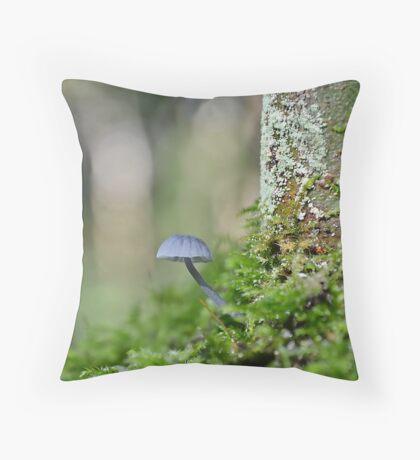 Nitrous Bonnet   ,   mycena  leptocephala. Throw Pillow