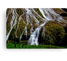 Flowing waterfall taken with slow shutter speed for calming effect Canvas Print