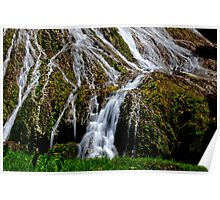 Flowing waterfall taken with slow shutter speed for calming effect Poster