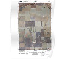 USGS Topo Map Washington State WA Whitstran NE 20110407 TM Poster