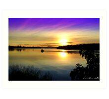 Wollumbin Sunset NSW Art Print