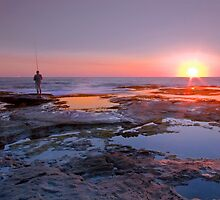 King's Beach Sunrise - Caloundra Qld Australia by Beth  Wode