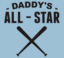 Daddy's All-Star Baseball One Piece - Short Sleeve
