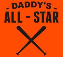Daddy's All-Star Baseball Kids Tee