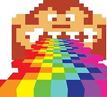 8 Bit Donkey Kong Rainbow by CopeStarr