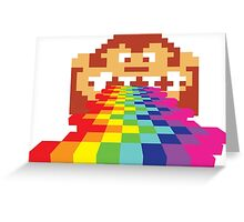 8 Bit Donkey Kong Rainbow Greeting Card