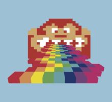 8 Bit Donkey Kong Rainbow Kids Tee