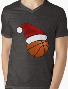 Christmas Basketball Mens V-Neck T-Shirt