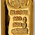suisse 100g gold iPhone 4/4s case by Jnhamilt
