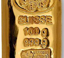 suisse 100g gold iPhone 4/4s case by Jnhamilt