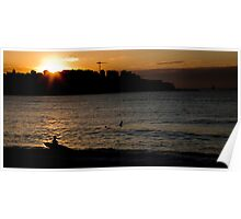 Surfers, Bondi, New South Wales, Australia Poster