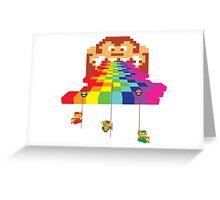 8 Bit Nintendo Rainbow Greeting Card