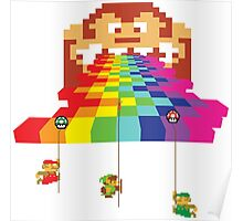 8 Bit Nintendo Rainbow Poster